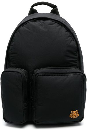 Kenzo Tiger motif patch backpack