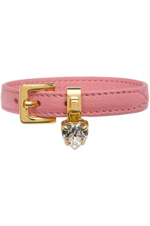 Miu Miu Madras leather bracelet
