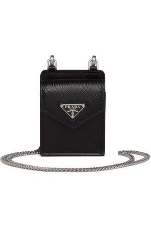 Prada Saffiano leather earphone case