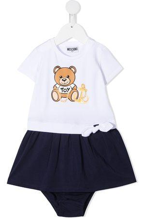 Moschino Kids Teddy bear-print dress