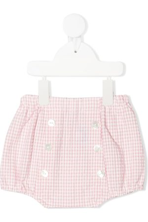 SIOLA Shorts - Gingham-print button-up shorts