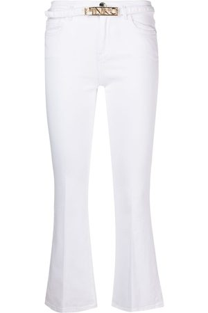 Pinko Mid-rise flared cropped trousers
