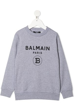 Balmain Kids Logo-print cotton jumper