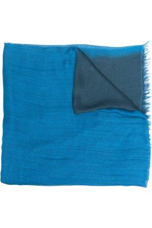 Emporio Armani Gradient-effect fringed-edge scarf