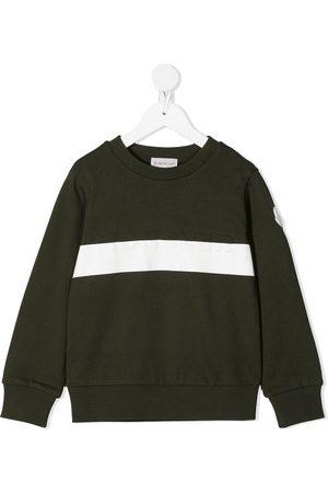 Moncler Enfant Embossed logo cotton sweatshirt