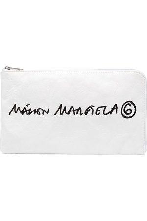 MM6 Maison Margiela Logo-print clutch bag