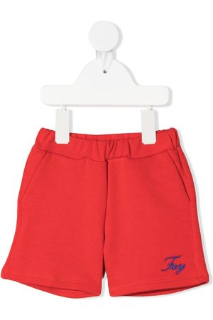 Fay Kids Logo-print track shorts