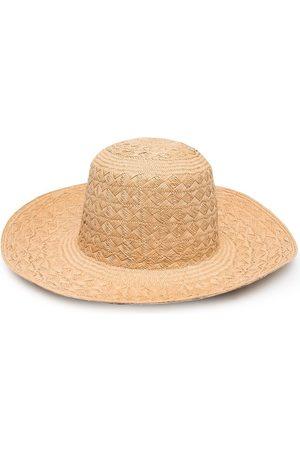 Saint Laurent Woven raffia hat