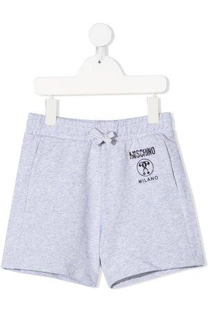 Moschino Kids Logo-print jersey shorts