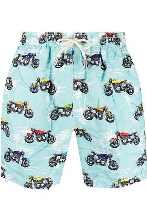 Mc2 Saint Barth Motorbike print swim shorts
