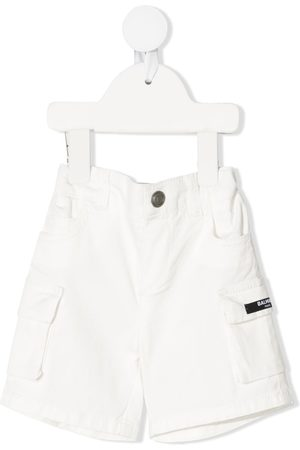 Balmain Kids Logo patch shorts