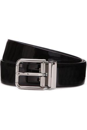 Dolce & Gabbana High-shine finish buckle-fastening belt