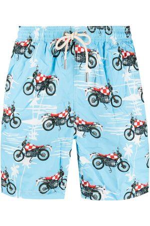 Mc2 Saint Barth Biker print swim shorts