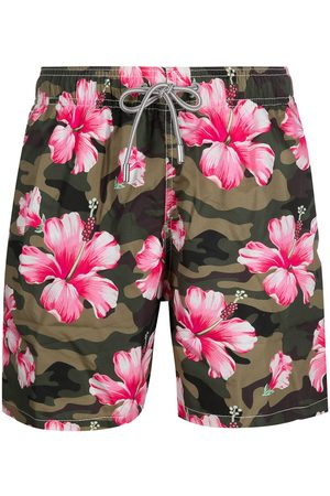 Mc2 Saint Barth Camouflage-print floral swim shorts