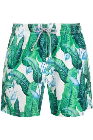Mc2 Saint Barth Leaf-print swim shorts