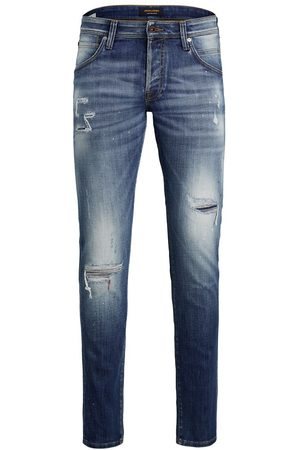 jack & jones Heren Slim - Glenn Fox Ge 740 Slim Fit Jeans Heren Blauw