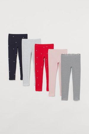 H&M Set van 5 tricot leggings