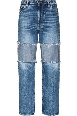 adidas Reverse-panel high-rise boyfriend jeans