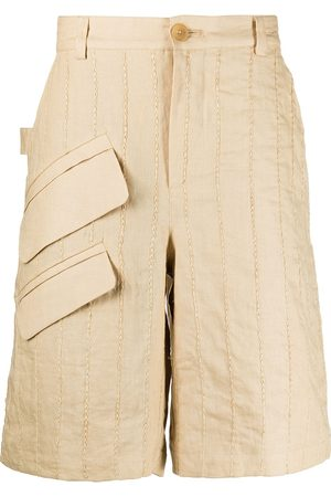 adidas Vertical-stripe Bermuda shorts