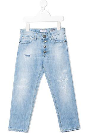 adidas Distressed straight-leg jeans