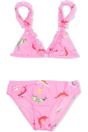adidas Ruffle-trim bikini set