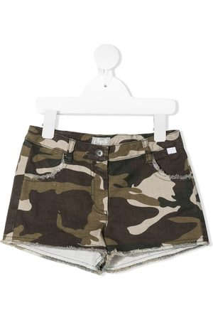 adidas Distressed-effect camouflage shorts
