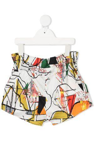adidas Graphic print paperbag waist shorts