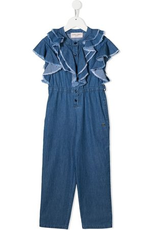 adidas Ruffle-trimmed denim jumpsuit