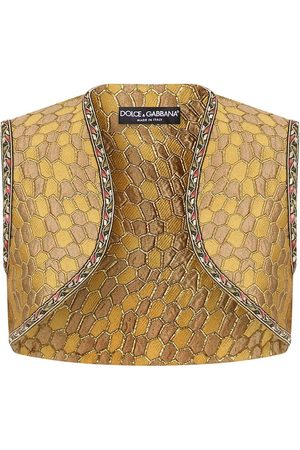 adidas Jacquard-woven cropped gilet