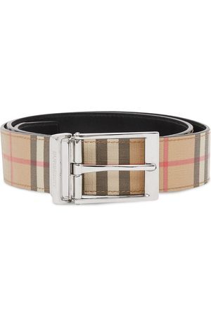 adidas Reversible check leather belt