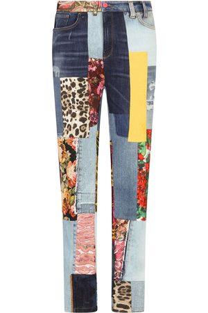 adidas Patchwork skinny jeans