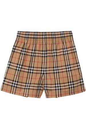 adidas Vintage Check side-stripe shorts