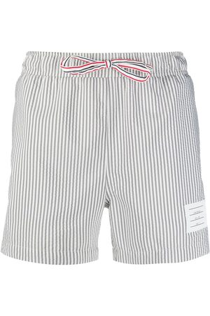 adidas Seersucker-print swim shorts