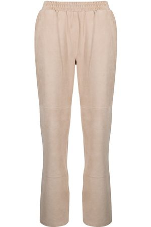 adidas Elasticated leather trousers