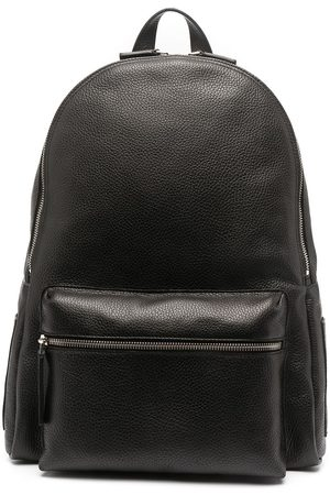 adidas Pebbled-effect leather backpack