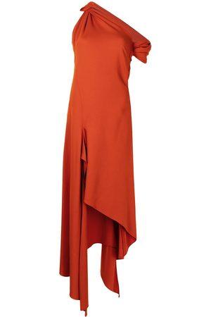 adidas Knotted shoulder drape dress