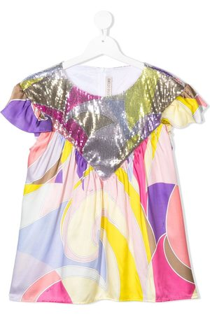 adidas TEEN abstract print embellished blouse