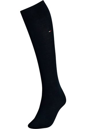 Tommy Hilfiger Dames cotton kniekousen donkerblauw