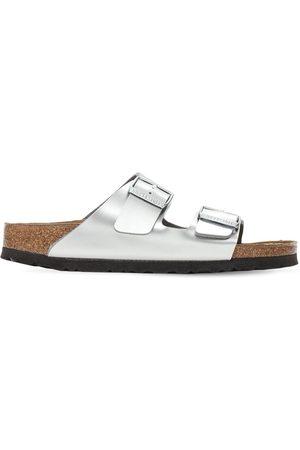 Birkenstock Laminated Metallic Leather Sandals