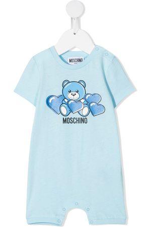 Moschino Bear-motif cotton romper