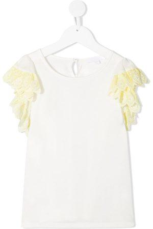 Chloé Debardeur ruffle sleeve T-shirt