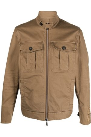 Dsquared2 Heren Leger jassen - Logo-patch military jacket