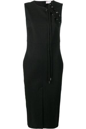 RED Valentino Dames Feestjurken - Lace-up detail midi dress