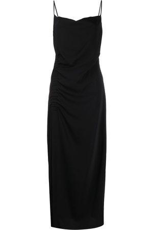 P.a.r.o.s.h. Side slit square neck dress