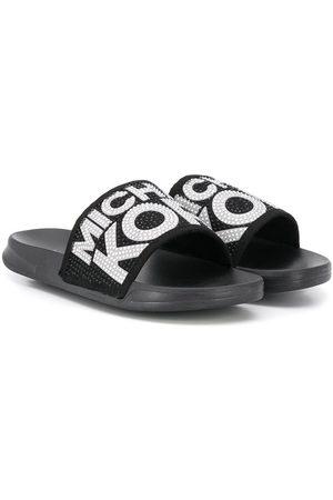 Michael Kors Slippers - Embellished logo slippers