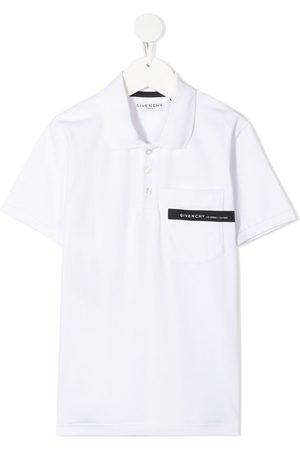 Givenchy Logo-tape short-sleeve polo shirt