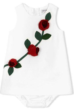 Dolce & Gabbana Meisjes Tops - Rose appliqué tank top