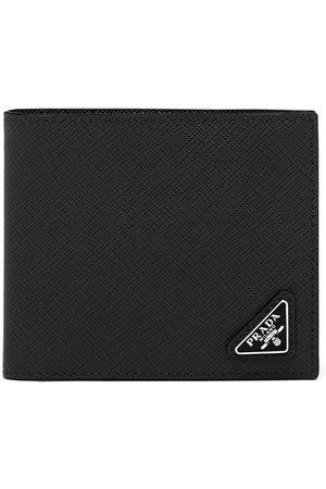 Prada Heren Portefeuilles - Saffiano leather bifold wallet