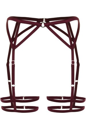 FLEUR DU MAL Strappy bondage garter belt