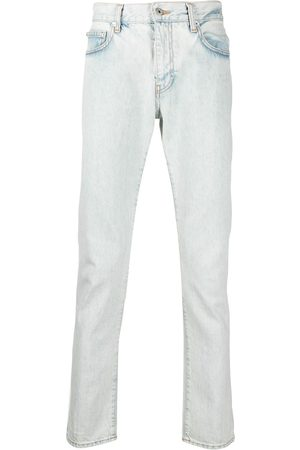 OFF-WHITE Diag-print slim-cut jeans